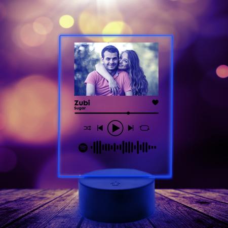 Lampa 3D luminoasa personalizata Spotify cu poza [7]