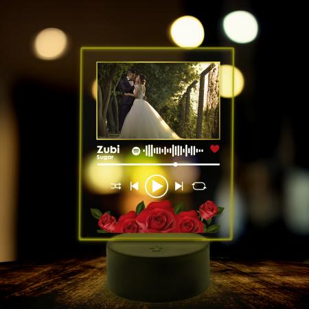 Lampa 3D luminoasa personalizata Spotify cu poza model2 [6]