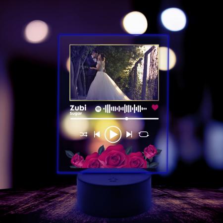 Lampa 3D luminoasa personalizata Spotify cu poza model2 [5]