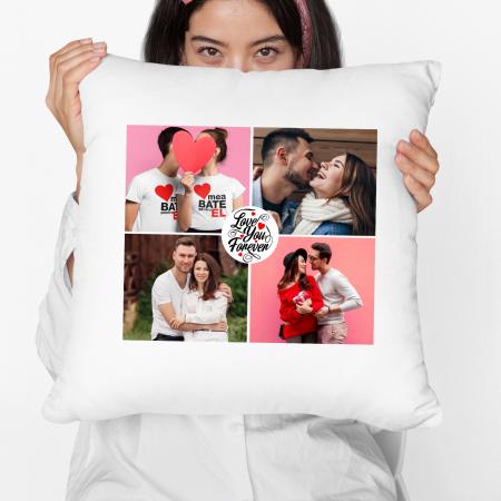Perna personalizata cu patru poze si model love you forever [4]