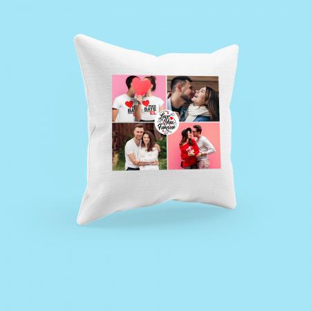 Perna personalizata cu patru poze si model love you forever [2]
