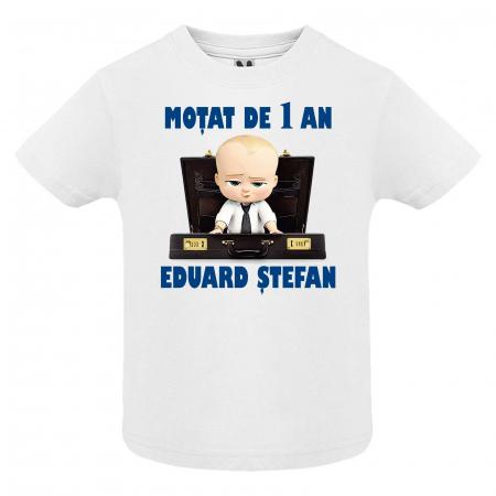 """Set 3 tricouri personalizate mama tata si copil cu nume si varsta """"Bebe Sef"""" [3]"""