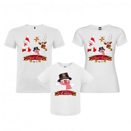 Set 3 tricouri personalizate primul Craciun in 3 [1]