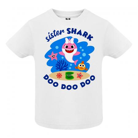 Set de 5 tricouri aniversare pentru nasi,parinti si copil,personalizate cu model Shark [3]