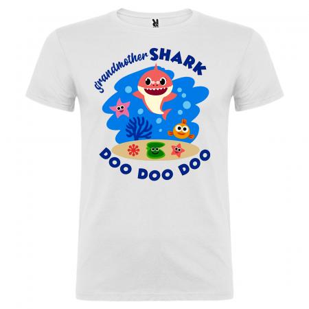 Set de 5 tricouri aniversare pentru nasi,parinti si copil,personalizate cu model Shark [1]