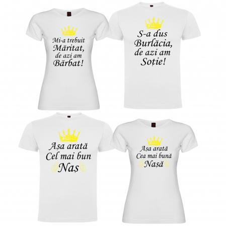 "Set tricouri ""Mi-a trebuit maritat de azi am barbat "" [0]"