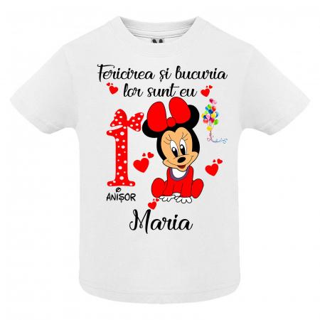 """Set de 5 tricouri personalizate pentru nasi parinti si copil fericirea si bucuria lor sunt eu """"Minnie"""" [2]"""