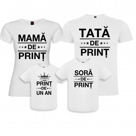 """Set de 4 tricouri aniversare pentru parinti surioara si copil """"Print de 1 anisor"""" [0]"""