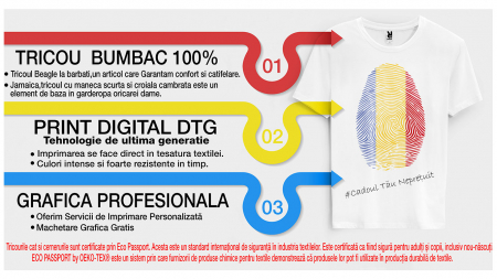 """Set de 4 tricouri aniversare pentru parinti surioara si copil """"Print de 1 anisor"""" [6]"""