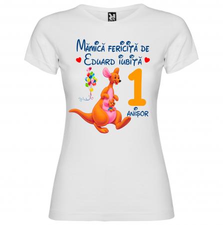 Set de 5 tricouri aniversare pentru nasi,parinti si copil, personalizate cu nume,varsta si mesaj,Winnie [6]