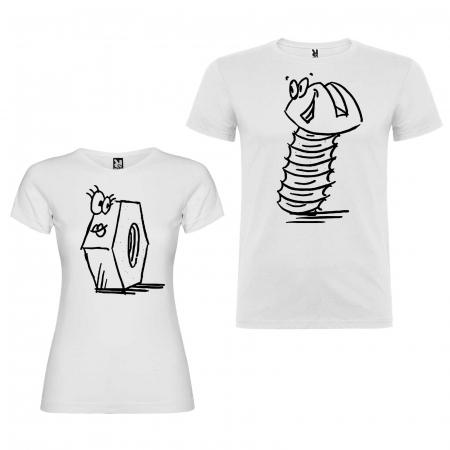 Set tricouri screw nut + bolt funny gift [1]