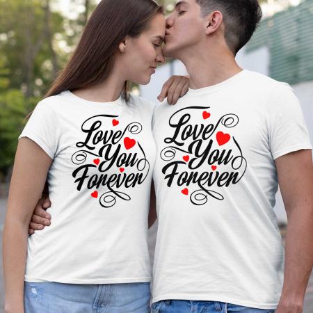 Set tricouri cuplu love you forever [0]