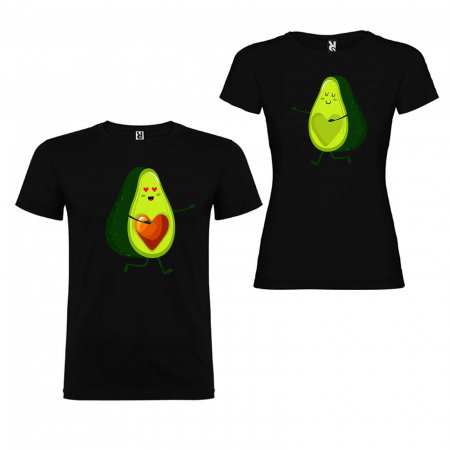 Set tricouri Cuplu Avocado [1]