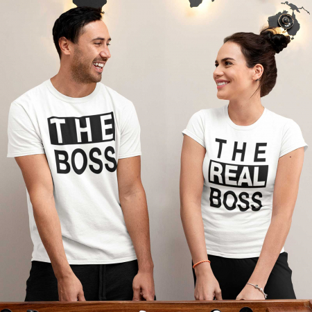 Set tricouri de cuplu The Boss The Real Boss [0]