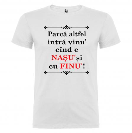 """Set tricouri """"Parca altfel intra vinul cand e nasul si cu finul"""" [4]"""