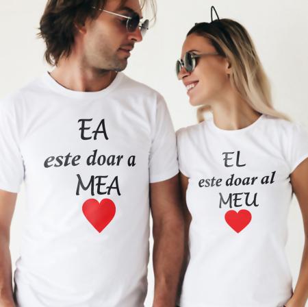 Tricouri personalizate pentru cupluri Ea Este doar a Mea si El doar al Meu [0]