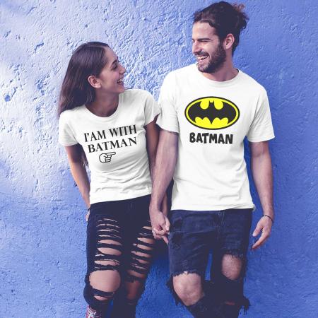 Tricouri personalizate pentru cupluri I am with Batman [0]