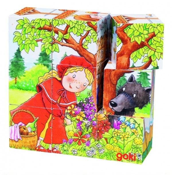 """Cuburi cu puzzle """"Imagini din povesti"""" 0"""