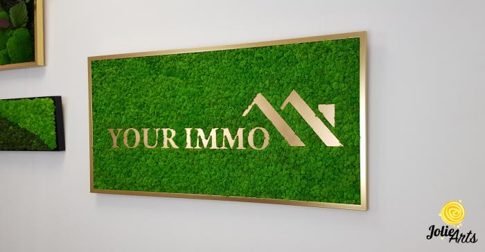 Logo personalizat, litere forex, decorat cu licheni naturali stabilizati, Jolie Arts [1]