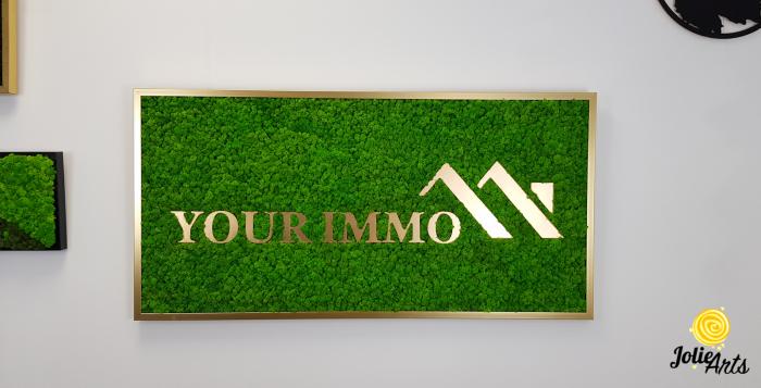 Logo personalizat, litere forex, decorat cu licheni naturali stabilizati, Jolie Arts [3]