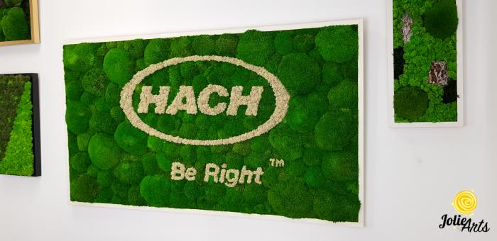 Logo personalizat, litere volumetrice, decor licheni naturali stabilizati si muschi bombati, Jolie Arts [1]