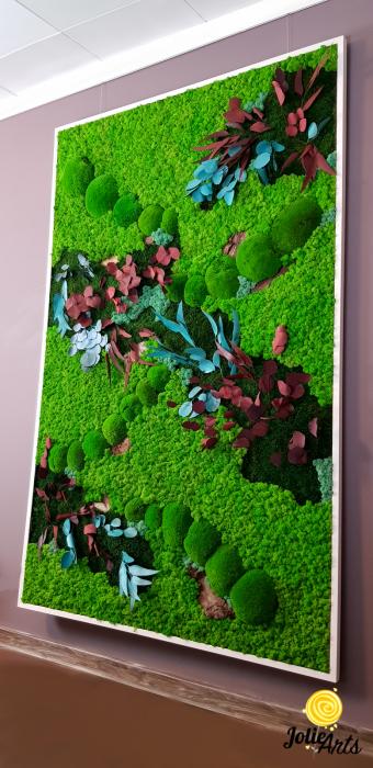 Tablou licheni, muschi bombati si plante naturale stabilizate Jolie Arts [4]