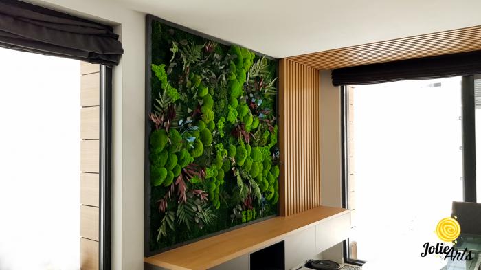 Panou decorativ cu plante naturale stabilizate, muschi de padure si licheni [3]