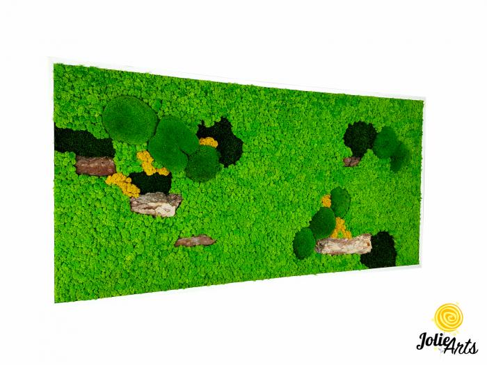 Tablou licheni, muschi bombati si elemente naturale stabilizate, Jolie Arts [0]
