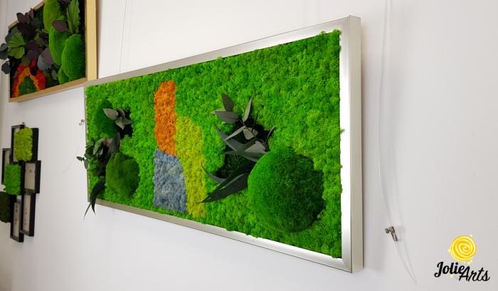 Logo personalizat cu licheni, muschi de padure si plante naturale stabilizate Jolie Arts [1]