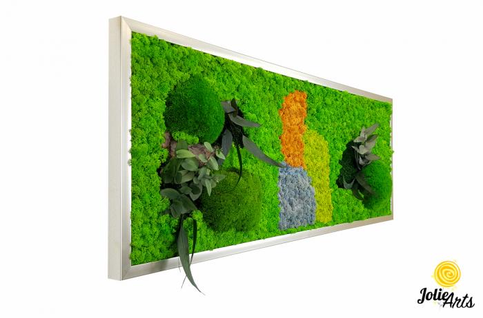 Logo personalizat cu licheni, muschi de padure si plante naturale stabilizate Jolie Arts [0]