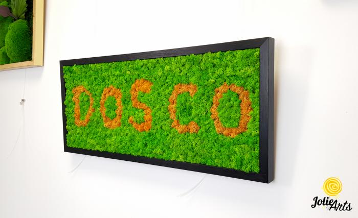 Logo personalizat cu licheni naturali stabilizati, Jolie Arts [1]