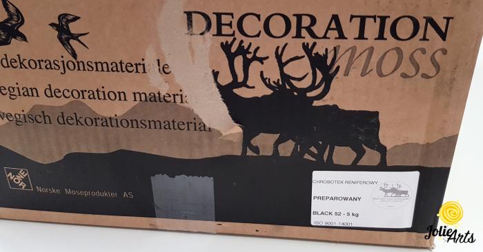 Licheni decorativi naturali stabilizati, culoare Negru, Black 52, Jolie Arts [2]