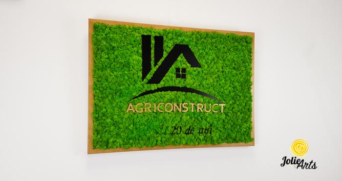 Logo Agriconstruct decorat cu licheni naturali stabilizati [3]