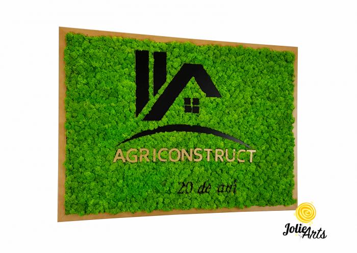 Logo Agriconstruct decorat cu licheni naturali stabilizati [0]