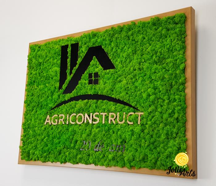 Logo Agriconstruct decorat cu licheni naturali stabilizati [5]
