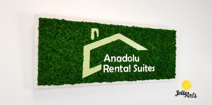 Logo Anadolu Rental Suites decorat cu licheni naturali stabilizati [3]