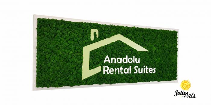 Logo Anadolu Rental Suites decorat cu licheni naturali stabilizati [0]