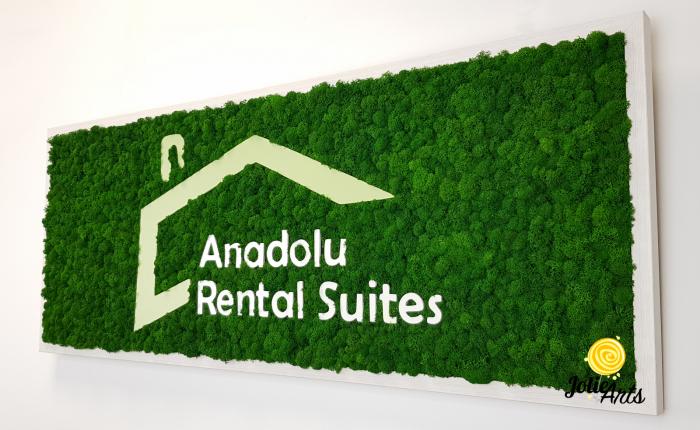 Logo Anadolu Rental Suites decorat cu licheni naturali stabilizati [5]