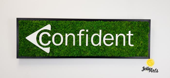 Logo Confident decorat cu licheni naturali stabilizati [2]