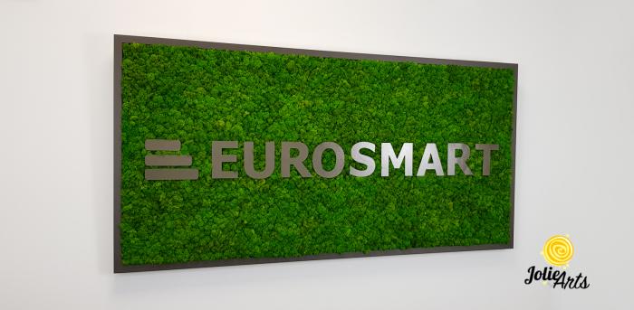 Logo Eurosmart decorat cu licheni naturali stabilizati [3]