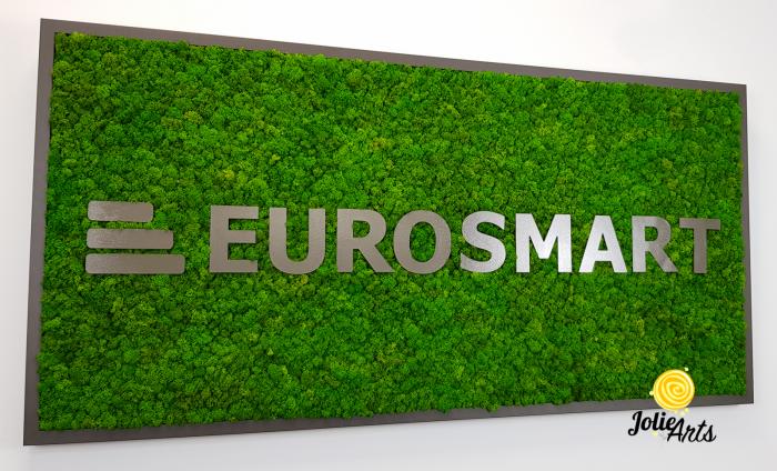 Logo Eurosmart decorat cu licheni naturali stabilizati [4]