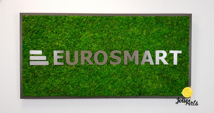 Logo Eurosmart decorat cu licheni naturali stabilizati [1]