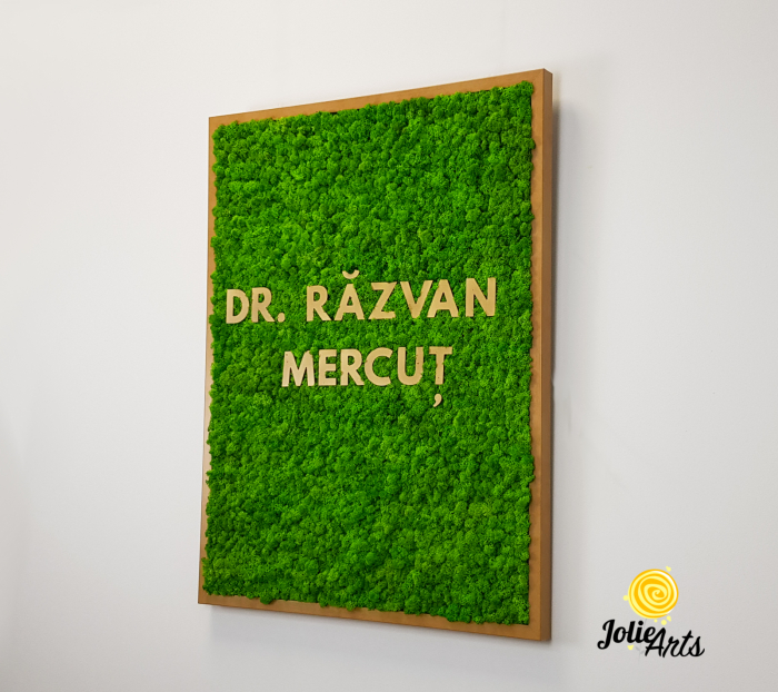 Logo Dr. R.M. decorat cu licheni naturali [1]