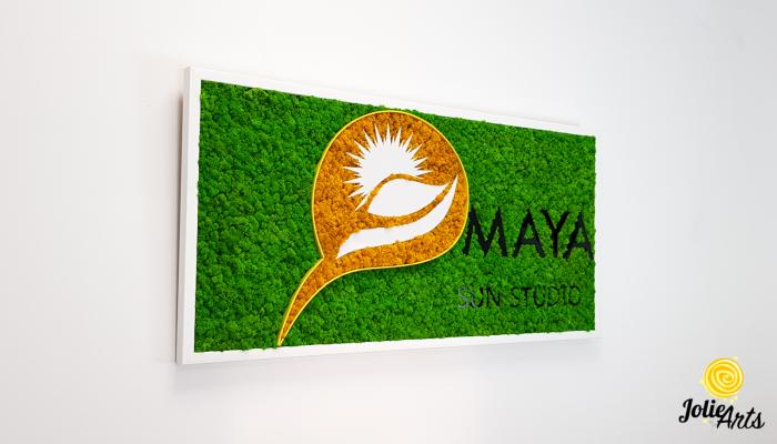 Logo Maya, dimensiune 50 x 100 cm,  licheni naturali stabilizati, Jolie Arts, www.tablouriculicheni.ro-5 [4]