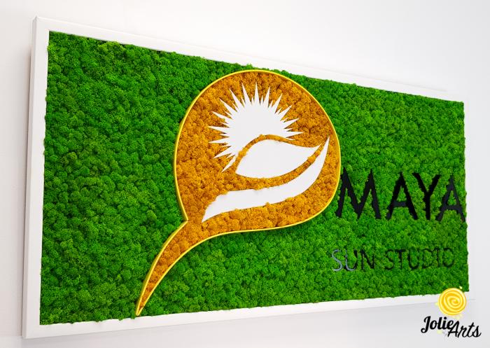 Logo Maya, dimensiune 50 x 100 cm,  licheni naturali stabilizati, Jolie Arts, www.tablouriculicheni.ro-5 [2]