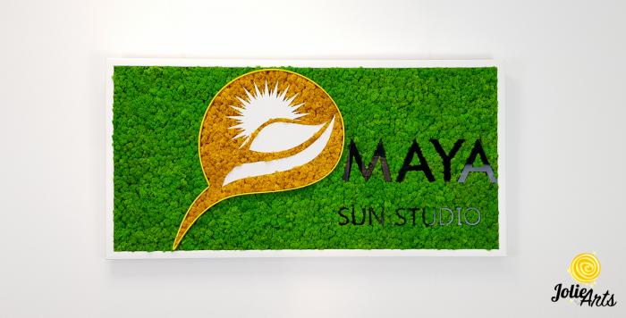 Logo Maya, dimensiune 50 x 100 cm,  licheni naturali stabilizati, Jolie Arts, www.tablouriculicheni.ro-5 [1]
