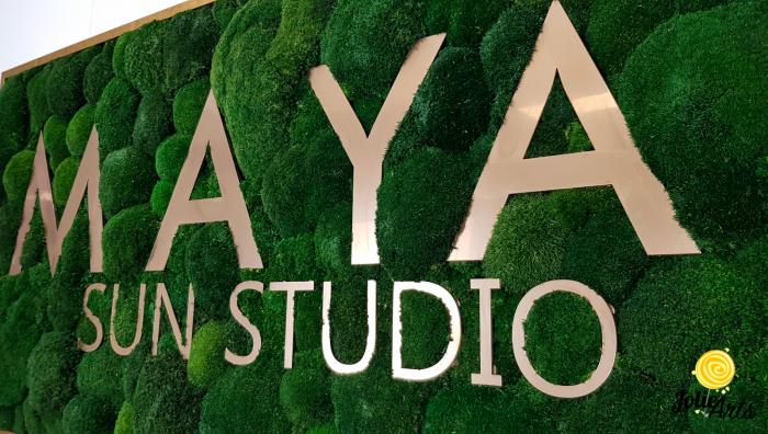 Logo Maya, dimensiune 60 x 120 cm,  muschi bombati verde inchis, Jolie Arts, www.tablouriculicheni.ro-7 [5]