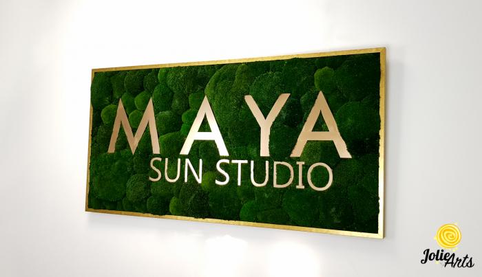 Logo Maya, dimensiune 60 x 120 cm,  muschi bombati verde inchis, Jolie Arts, www.tablouriculicheni.ro-7 [1]