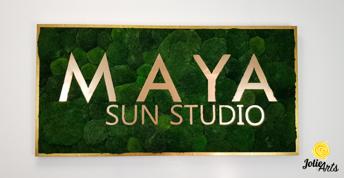 Logo Maya, dimensiune 60 x 120 cm,  muschi bombati verde inchis, Jolie Arts, www.tablouriculicheni.ro-7 [2]