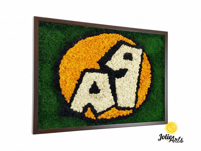 Logo A 1, decorat cu licheni si muschi plati [0]